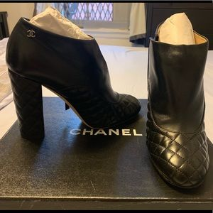 Chanel ankle boots.